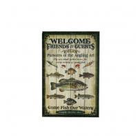 Картина Riversedge Fishing Wood Sign 60*40 см (18350053)