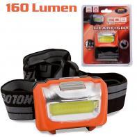 Фонарик налобный Lineaeffe LED 160 люмен (7599384)